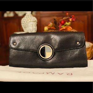 RAMPAGE Suede/Leather Clutch Bag